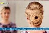 Đơn giản mà thanh lịch với búi tóc hoa hồng